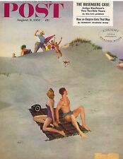 The Saturday Evening Post August 8 1953 George Hughes Vintage Americana