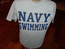 U.S MILITARY NAVY SWIMMING T- SHIRT, SIZE MEDIUM MADE IN THE U.S.A