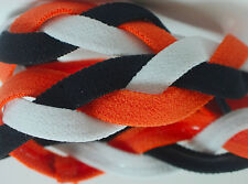 NEW! Orange Black White Grippy Bands Headband Hair Sport Soccer Softball Stretch