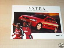 14594) Opel Astra Bayern München Prospekt 2000