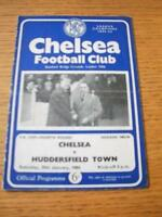 25/01/1964 Chelsea v Huddersfield Town [FA Cup] (Creased, Folded & Scores On Bac