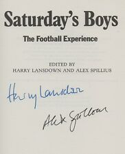 Saturday's Boys. SIGNED The Football Experience. c6.84