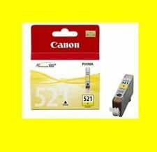 ORIGINALE Canon Pixma cli-521 YELLOW mp560 mp620 mp630 mp640 mp980 MX 860 NUOVO