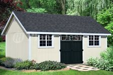 How to build 14' x 20' Gable Roof Storage Shed #D1420G, Material List Included