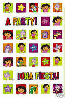 NIP Dora Diego Boots Birthay Party Favors 2Sht Stickers