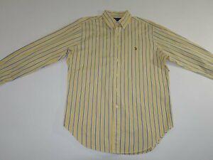 Ralph Lauren Men's Classic Fit Dress Shirt Size 16 - 32/33 Yellow Button Down L