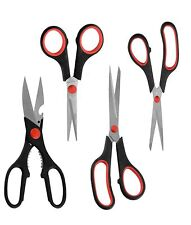 Scissors Set For Home Crafts or Office Cutting Projects Multipurpose 4 Scissors