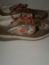 Skechers 48771 Womens Size 8.5 Brown Lace Up Walking Shoes Leather RARE