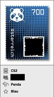 Briefmarke Crypto stamp ''Panda'' 700 BLUE
