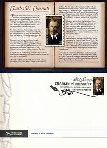 USA. 2008 Charles W. Chesnutt, Author (4222) First Day Cover & Ceremony Program