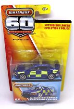 Mitsubishi Lancer Evolution X Police Matchbox 60th Anniversary Model Toy Car