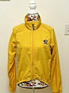 Pearl Izumi Zephrr Women's Rain Jacket Bright Yellow Cycling Running Wind Small
