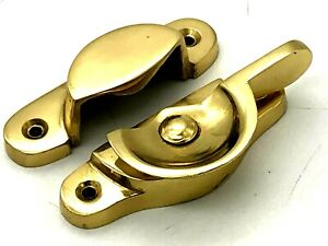 FITCH FASTENER 69mm solid brass sash window lock with screws (130)