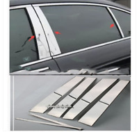 2018-2019 Toyota Camry 6Pc Chrome Pillar Post Stainless Steel Trim
