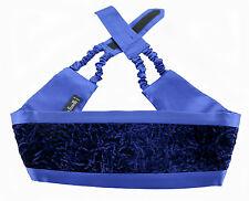 New ITALO FERRETTI Blue Woven Silk Adjustable Tuxedo Tux Cummerbund MSRP $250!