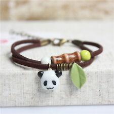 Bamboo Pendant Panda Gift Rope Hand Chain Ceramic Porcelain Bracelet