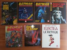 LOT DE 7 ALBUMS COMICS USA - DAREDEVIL / ELEKTRA / BATMAN / JUDGE DREDD
