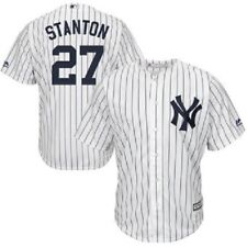 Giancarlo Stanton NY Yankees Youth Majestic Cool Base Jersey FREE POSTAGE & CARD