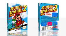 Super Mario Bros.2 Nes Nachdruck Spiel Hülle Box + für Work (Kein Spiel)