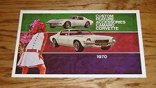 1970 Chevrolet Camaro Corvette Custom Feature Accessories Brochure 70 Chevy