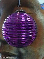 6 Violette Weihnachtsbaumkugel PTMD Collection