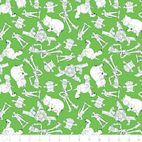 Toy Story Characters Outlines Woody Buzz Lightyear cotton fabric by the yard
