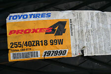 2 Brand New 255 40 18 Toyo Proxes4 Tires 99W DOT CODE 3909 & 0911*SHIPPING DISC*