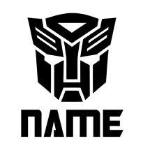 Personalised Autobot Symbol Vinyl Decal Sticker - Great for Mugs, Bottles, Cups