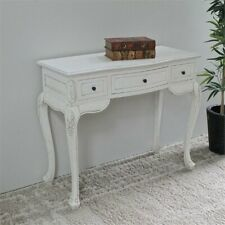 International Caravan Windsor Hand Carved Vanity Desk in Antique White