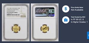 2011 Lithuania  50 Litas  gold coin  Basketball ---NGC PF 69 ULTRA CAMEO----