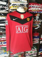 MANCHESTER UNITED home 2009/10 shirt GIGGS #11 -Wales-Utd-Long Sleeve-Jersey (M)