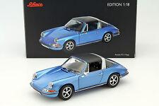 Porsche 911 s 2.4 Targa año de fabricación 1973 azul 1:18 Schuco