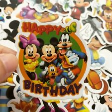 50Pcs Disney Mickey Mouse Sticker Cartoon Decal Vinyl Wall Home Room Laptop Art