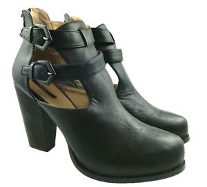FOREVER 21 LADIES FASHION CUT OUT ANKLE BOOTS BLACK SIZE UK 3-8 NEW