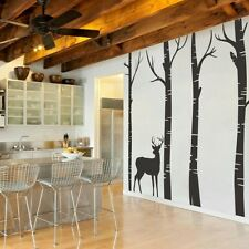 Winter Tree Deer Wall Decal Inspiration Baby Room Removable Home Vinyl Art Decor