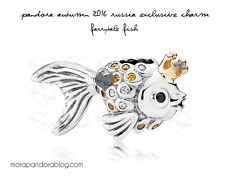 LIMITED EDITION PANDORA ST.SILVER & 14ct.GOLD FAIRYTALE FISH - 792014CCZ