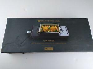 MasterClass Professional Triple Table-Top Tea Light Food/Plate Warmer-Carbon