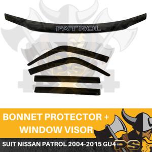 2004-2016 Nissan Patrol WAGON GU4+ Y61 Bonnet Protector & Window Visors Weather