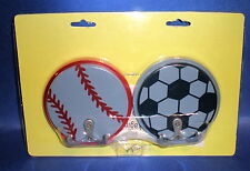 Sports Game Baseball Soccer Ball Kid Child Wood Nursery Hang Hook Decor New #Dt