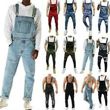Fashion Men Overalls Bib Pants Jeans Jumpsuit Dungarees Casual Skinny Trousers