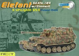 Dragon Armor 60123 Elefant w/Zimmerit, 3/s.Pz.Jg.Abt.653, Poland 1944