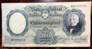 ARGENTINA - 500 Pesos - ND(1964-1969) - Pick 278 - Very Fine