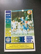 Wigan Athletic v Newport County Programme 1982/83