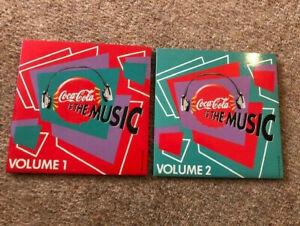 Coca Cola Is The Music Volume 1 & 2 Cd Music RARE UK coke disc