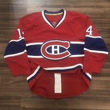 Reebok Edge Authentic Montreal Canadiens NHL Hockey Jersey Red Home (Medium) 50