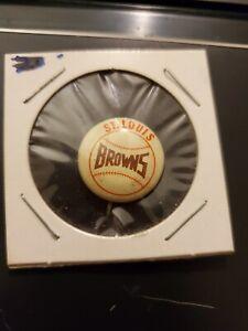 1950's Vintage St Louis Browns Baseball 3/4 Inch Pin Pinback FREE SHIPPING