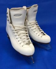 Riedell TS Girls Youth White Figure Skates Model Onyx  Size 3M Made In USA