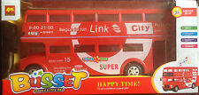 TOY DOUBLE DECKER BUS LONDON DOUBLE DECKER BUS BUMP & GO (GOOD QUALITY BUILD)