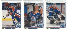 9 1990-91 UPPER DECK HOCKEY EDMONTON OILERS CARDS (GRAVES RC/MESSIER+++)