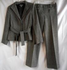 ANN TAYLOR Business Pants Suit Petite 2P Signature Fit Lower on Waist